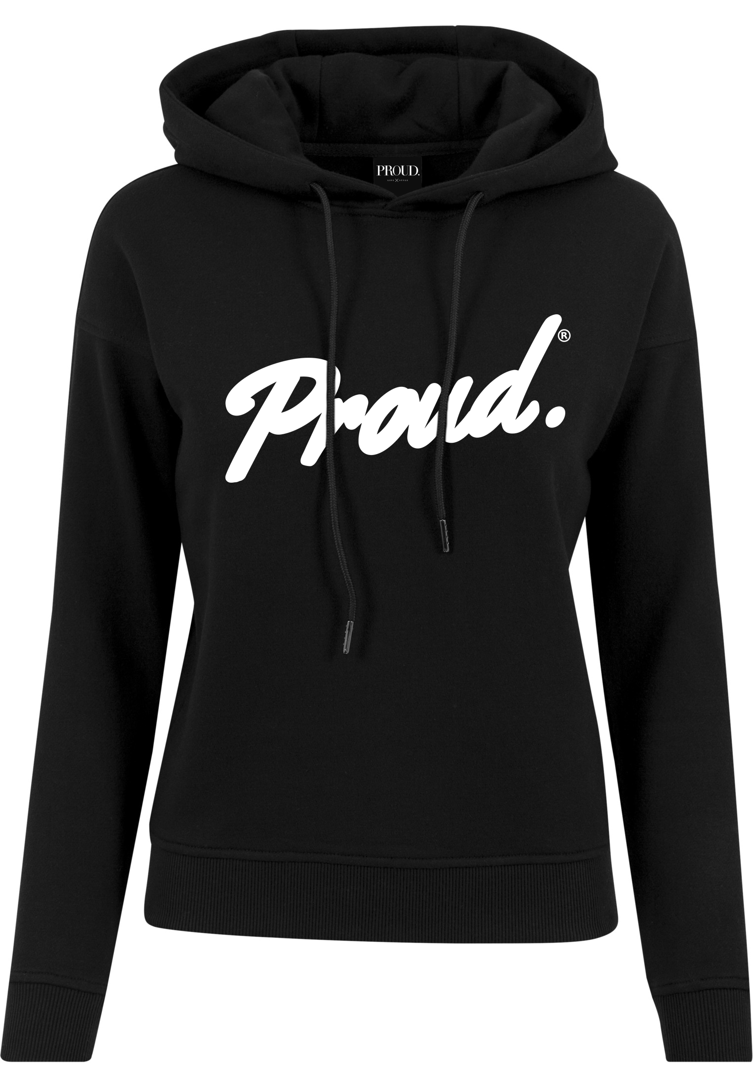 Trui Met Capuchon Dames.Proud Script Logo Dames Hooded Sweater Black Proud