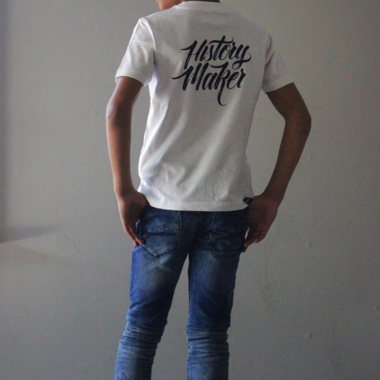 PROUD. 'BOYS HISTORY MAKER SHIRT WHITE