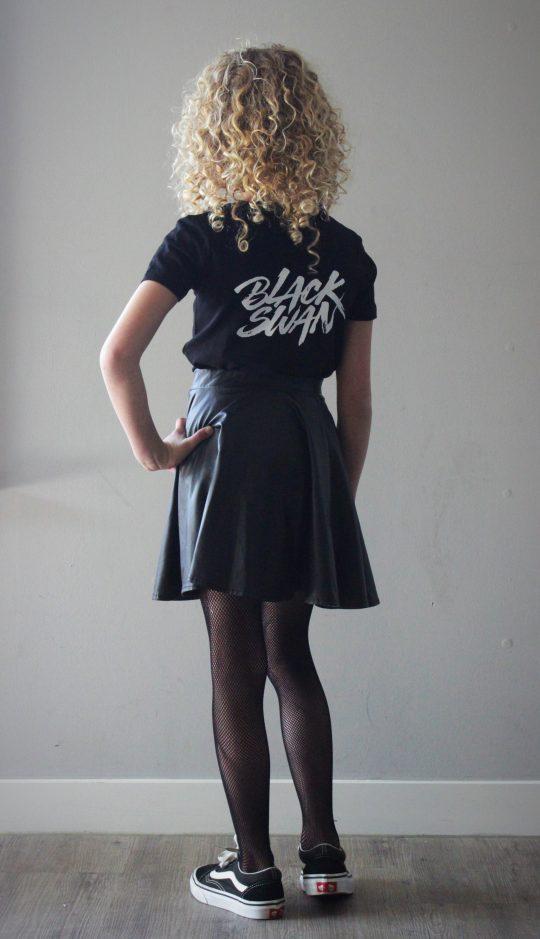 PROUD. 'GIRLS BLACK SWAN' SHIRT