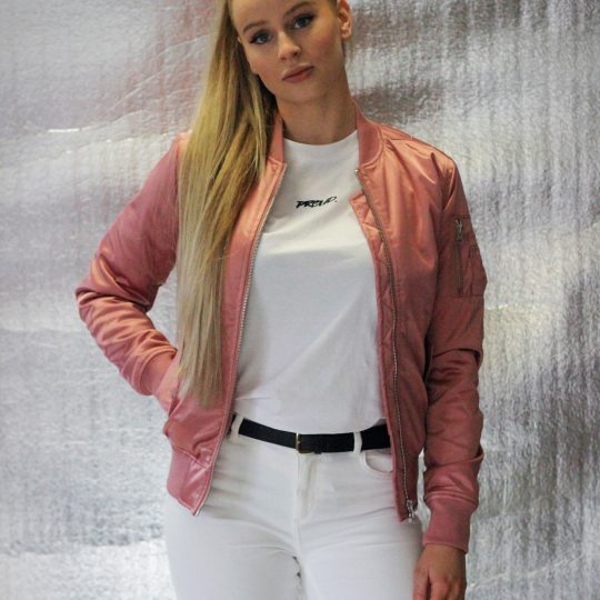 PROUD. Ladies Satin Bomber Jacket