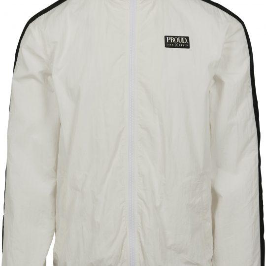 PROUD. Striped Crinkle Track Jacket
