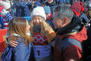 Chloe Kim and parents