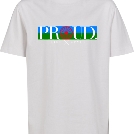 PROUD.ROOTS PIKET WIT SHIRT VLAG KIDS