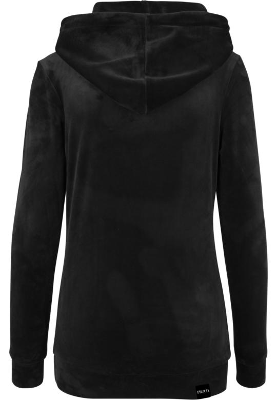 Velvet hoodie Back